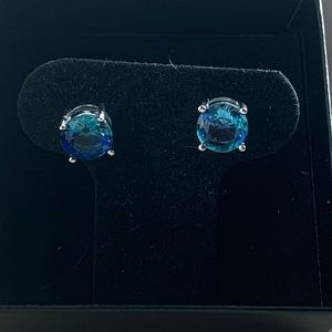 New! Gorgeous Blue Topaz Studs